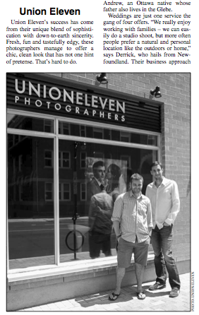 Photo of andrew and derrick outside the union eleven studio