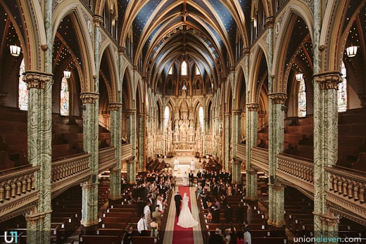 notre-dame cathedral wedding photo