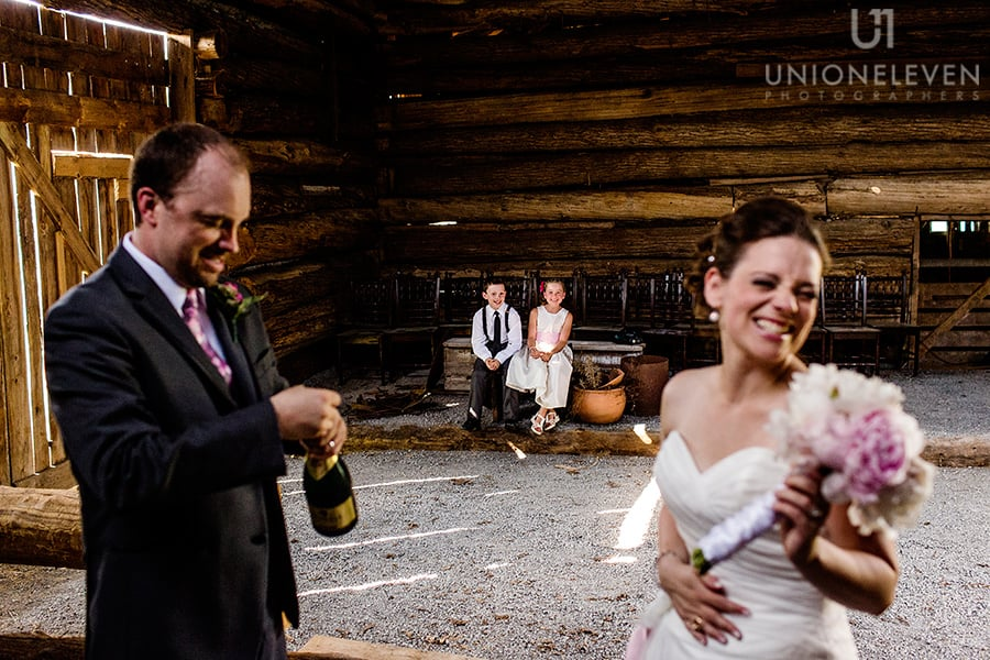bride groom kids stonefields carleton place wedding