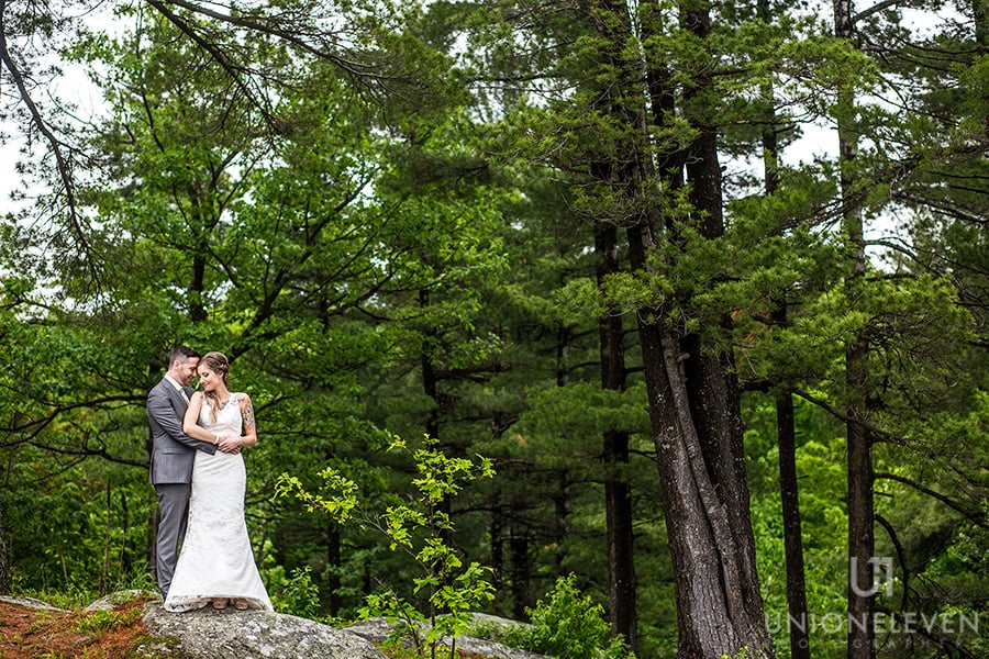 bride groom nature wedding le belvedere wakefield quebec