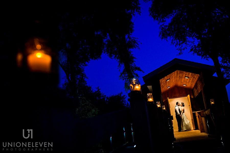 bride groom night portrait stonefields carleton place wedding