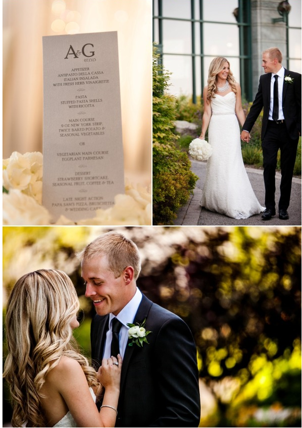 Three wedding photos from the brookstreet hotel in ottawa