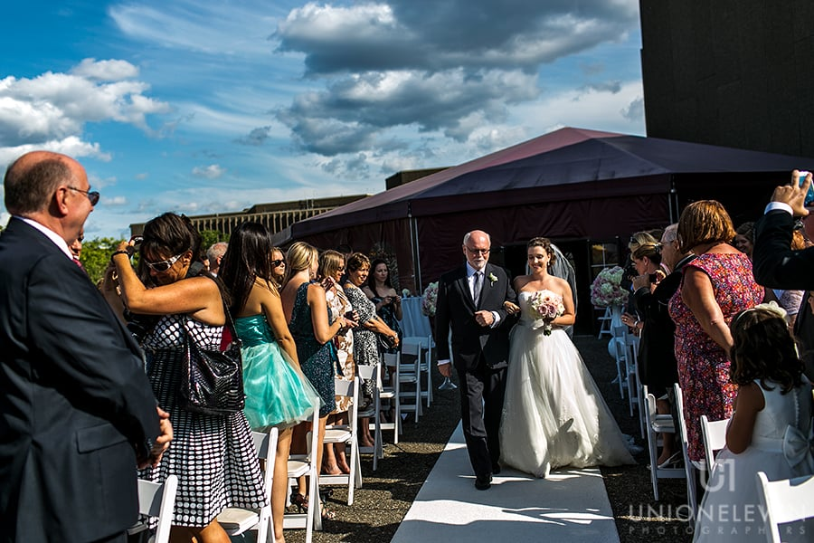 nac-rooftop-terrace-wedding-bride-father-walking-aisle