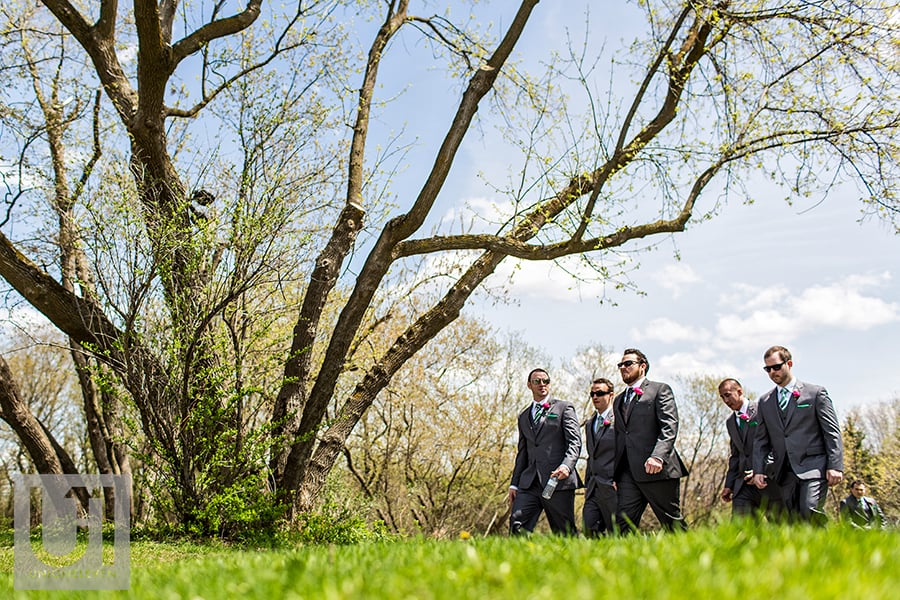 billings-estate-wedding-groom-arriving-at-ceremony