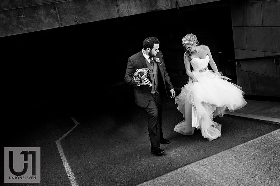 chateau-laurier-bride-groom-walking-out-of-parking-garage