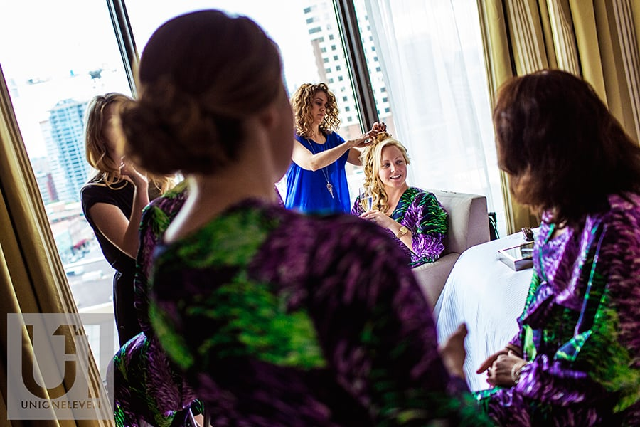 bride-getting-ready-with-bridemaids-westin-hotel-ottawa-wedding