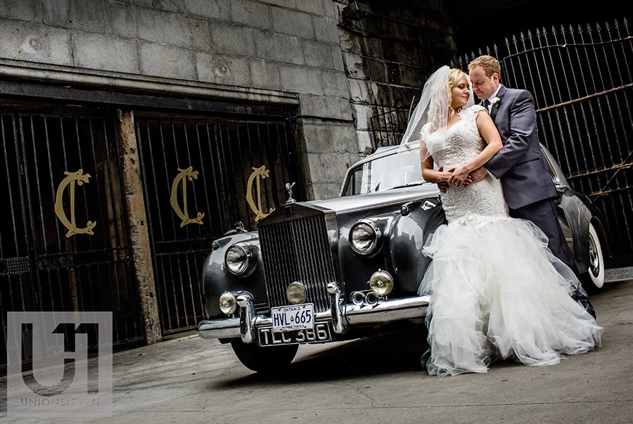 bride-groom-outside-the-chateau-laurier-with-rolls-royce