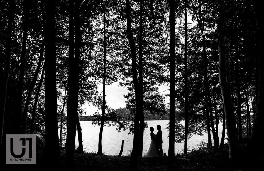 Camp Oconto wedding photo