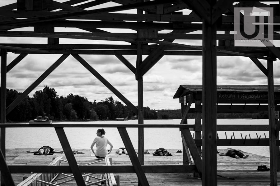 red pine camp wedding photo