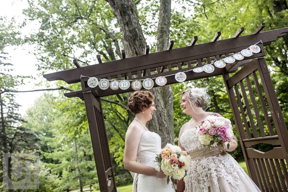 a photograph of a same sex wedding ceremony