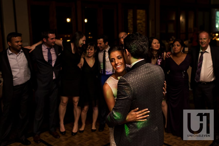 Sedona Arizona Wedding - bride and groom first dance at the enchantment resort