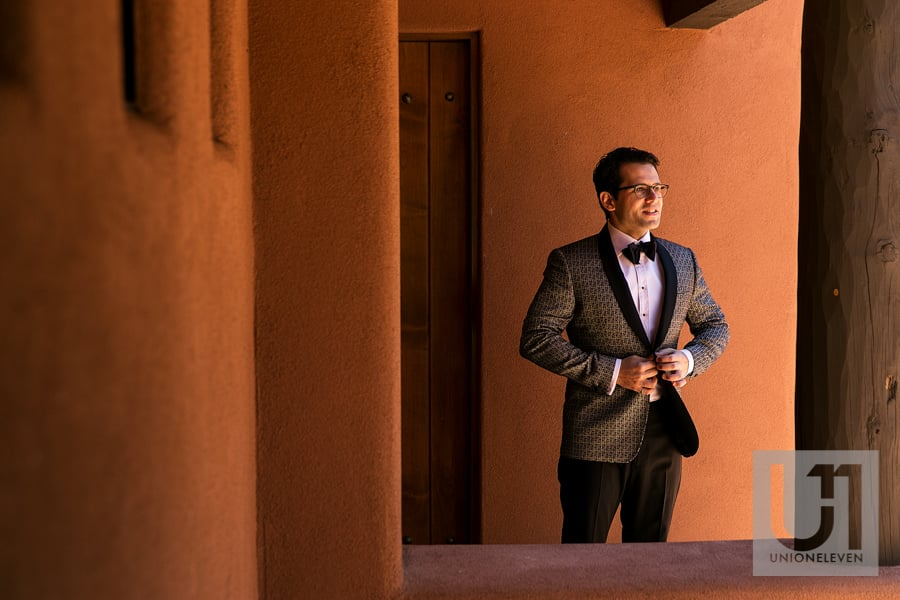 Sedona Arizona Wedding - groom getting ready