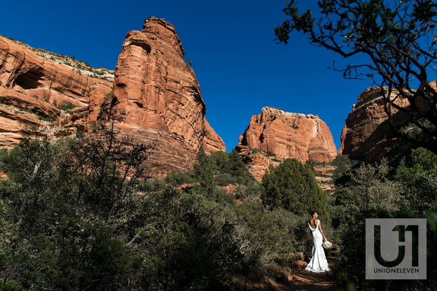 Bridal portrait at the enchantment resort