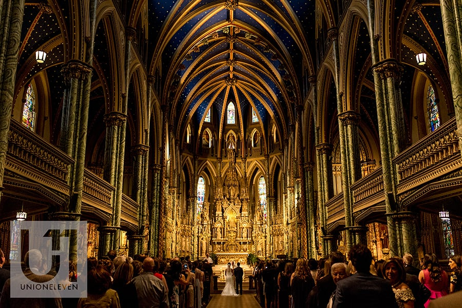 bride groom ceremony notre dame cathedral basilica ottawa wedding