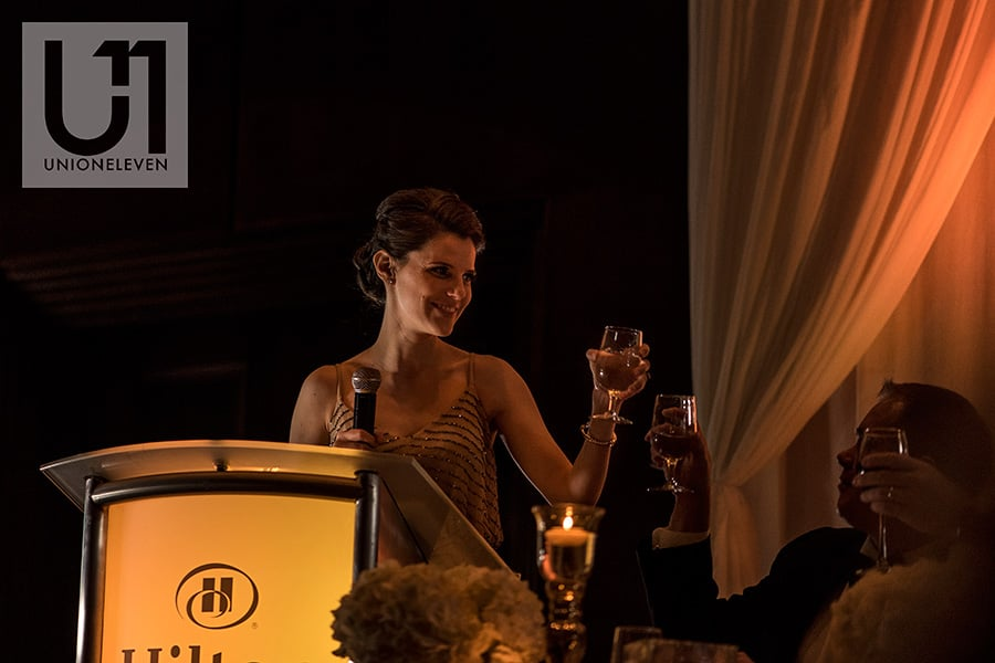 matron of honor toast hilton lac-leamy wedding