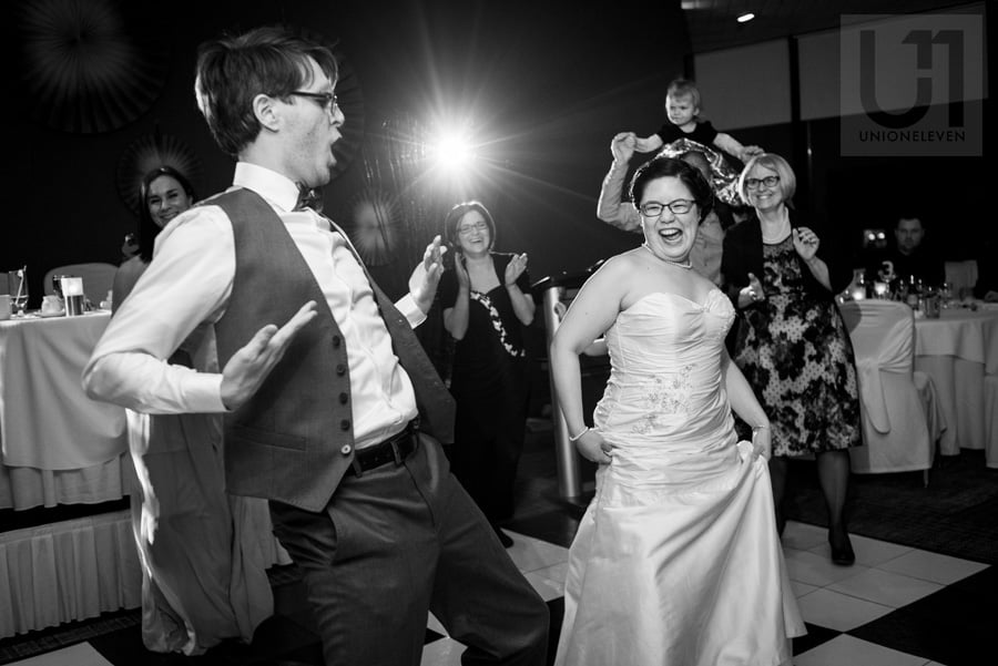 high energy first dance between groom and bride  in Ottawa