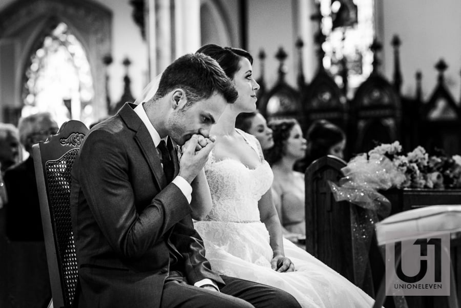 tender moment during a wedding ceremony