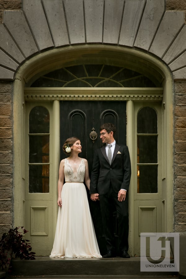 bride and groom portrait at strathmere