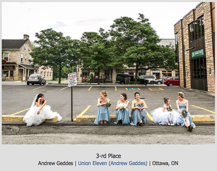 casual wedding party shot in perth ontario