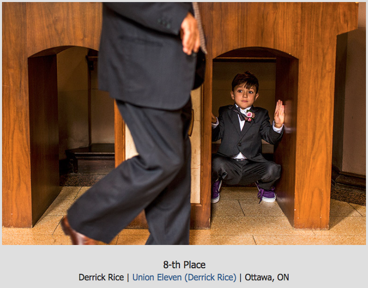 kid hiding at a church during a wedding ceremony