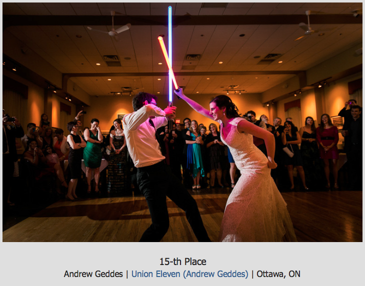 wedding reception lightsaber battle