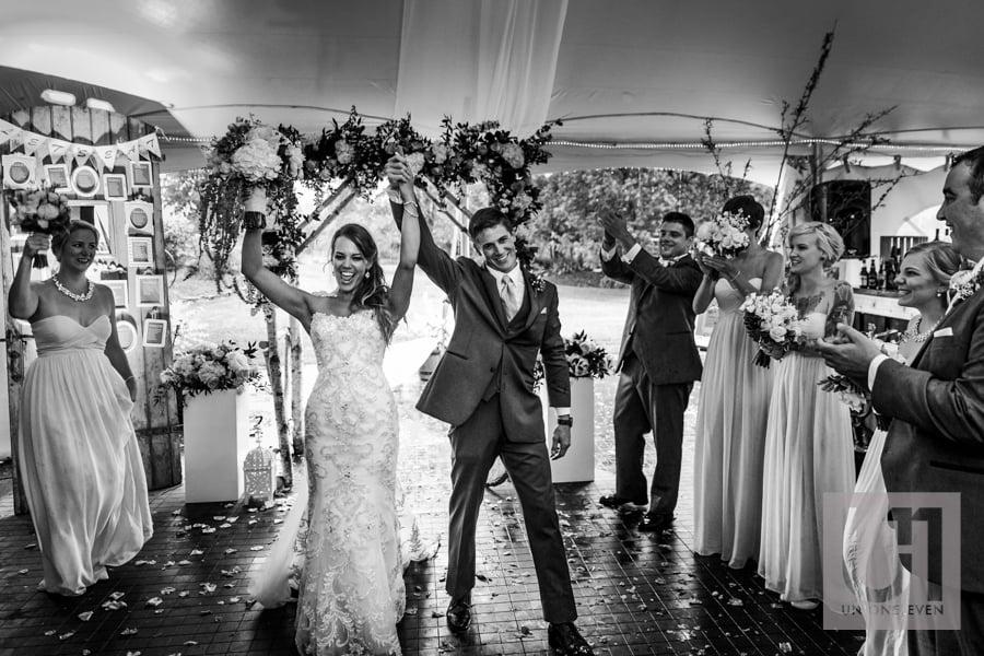 grand entrance at a wedding