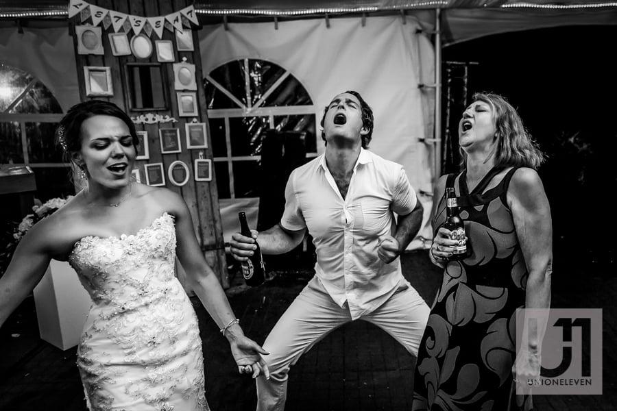 crazy dancing at a wedding