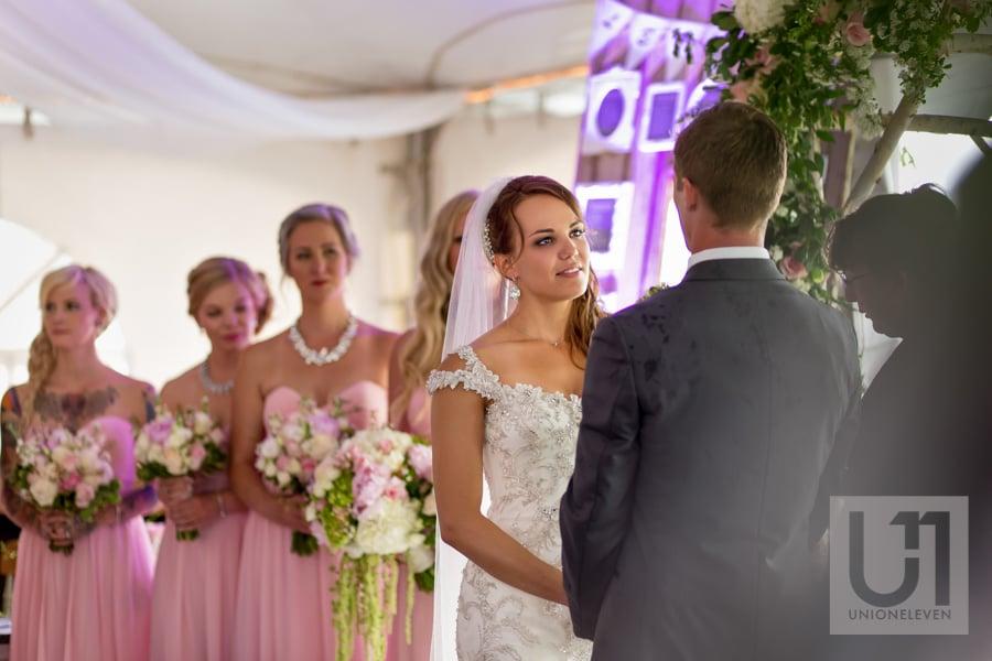 indoor ceremony at stonefields