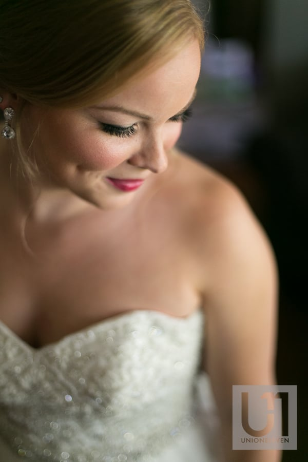 pretty bridal portrait in window light