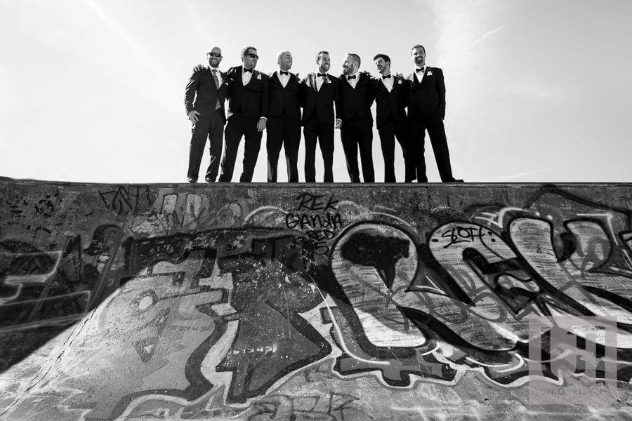 photograph of groomsmen
