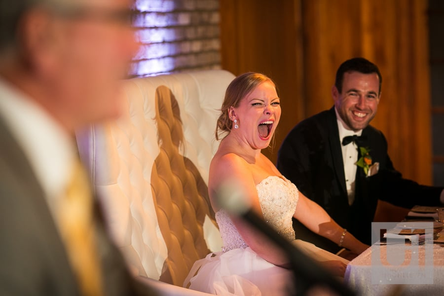 wedding speech reaction