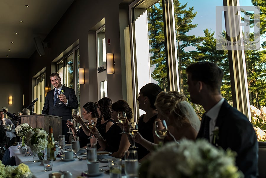 best man toast at a le belvedere wedding