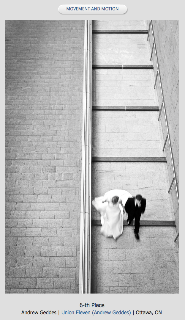 black and white photo of a bride and groom at the national art gallery in ottawa