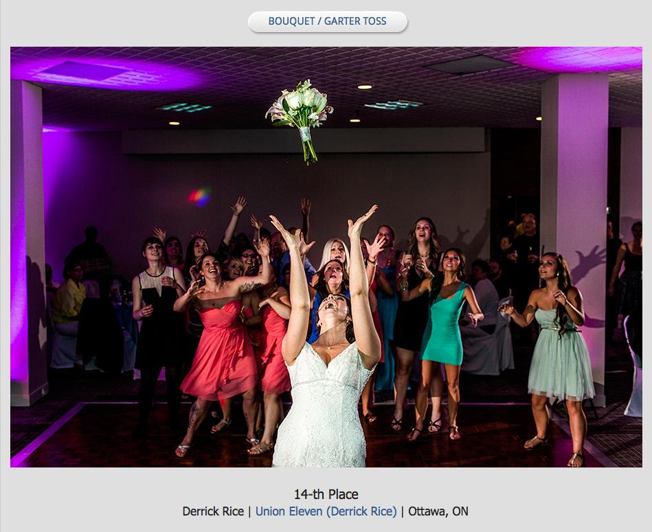 bride tossing her bouquet
