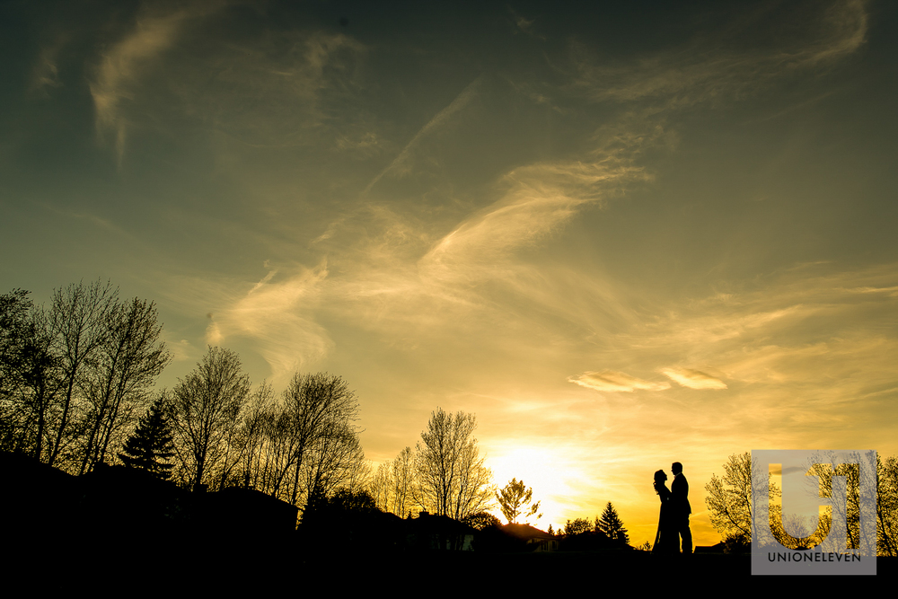 indian couple at sunset
