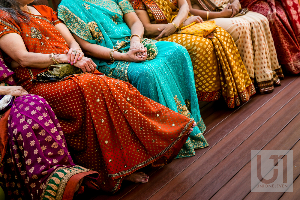 colourful outfits at a hindu wedding