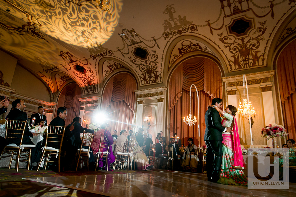 first dance for an indian couple at le chateau laurier in Ottawa