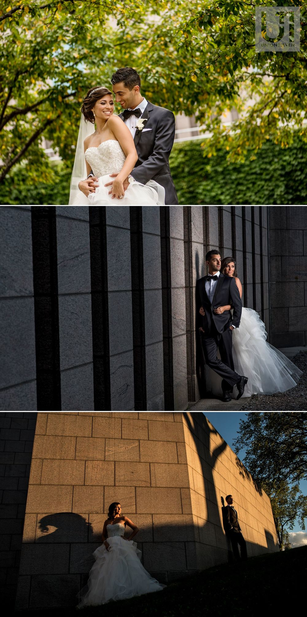 bride and groom portraits at a westin wedding in ottawa