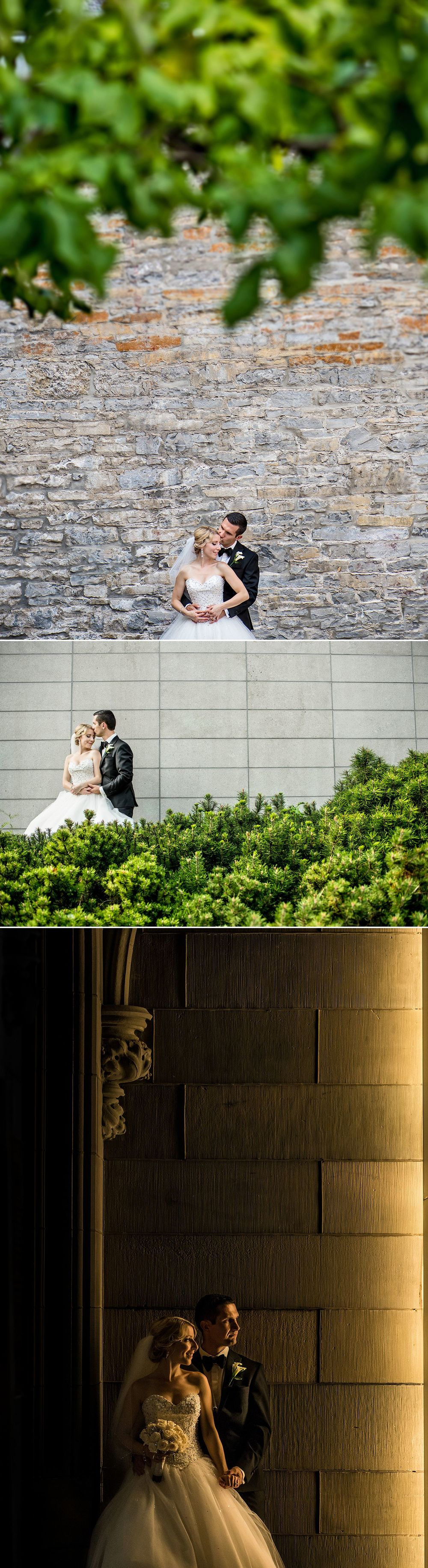 bride-and-groom-being-photographed-outside-the-museum-of-nature