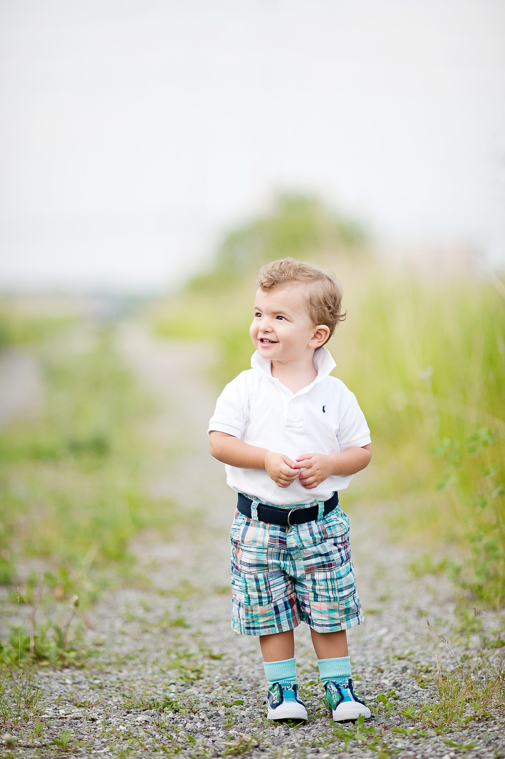 outdoor portrait of a toddler