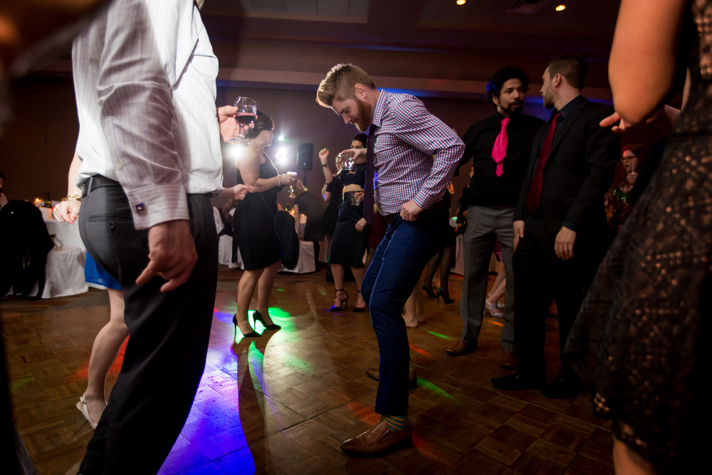 A few of the guests dancing during the wedding reception at St.Elias