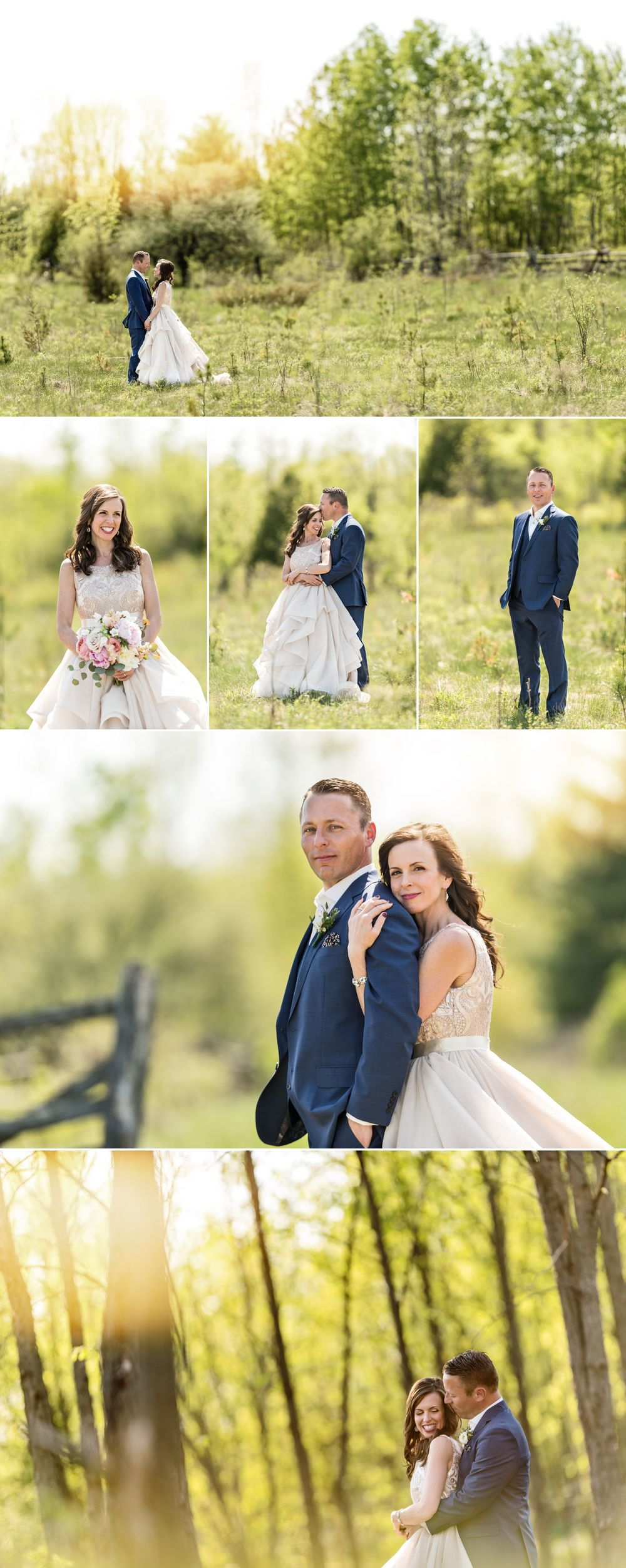 portarits of stephanie and steve of stonefields heritage barn wedding