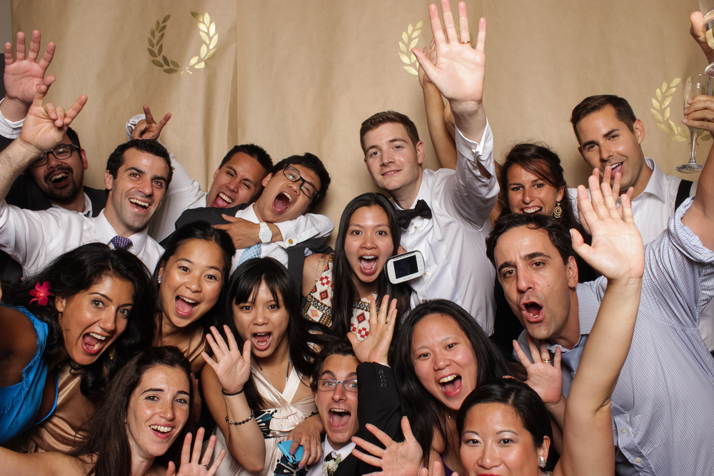 group shot from an ottawa photo booth rental at a wedding