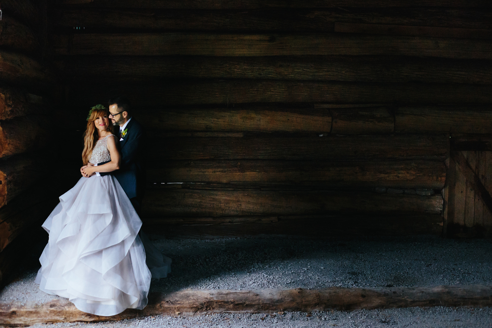 A portrait of the bride and groom featured in Weddingbells Magazine