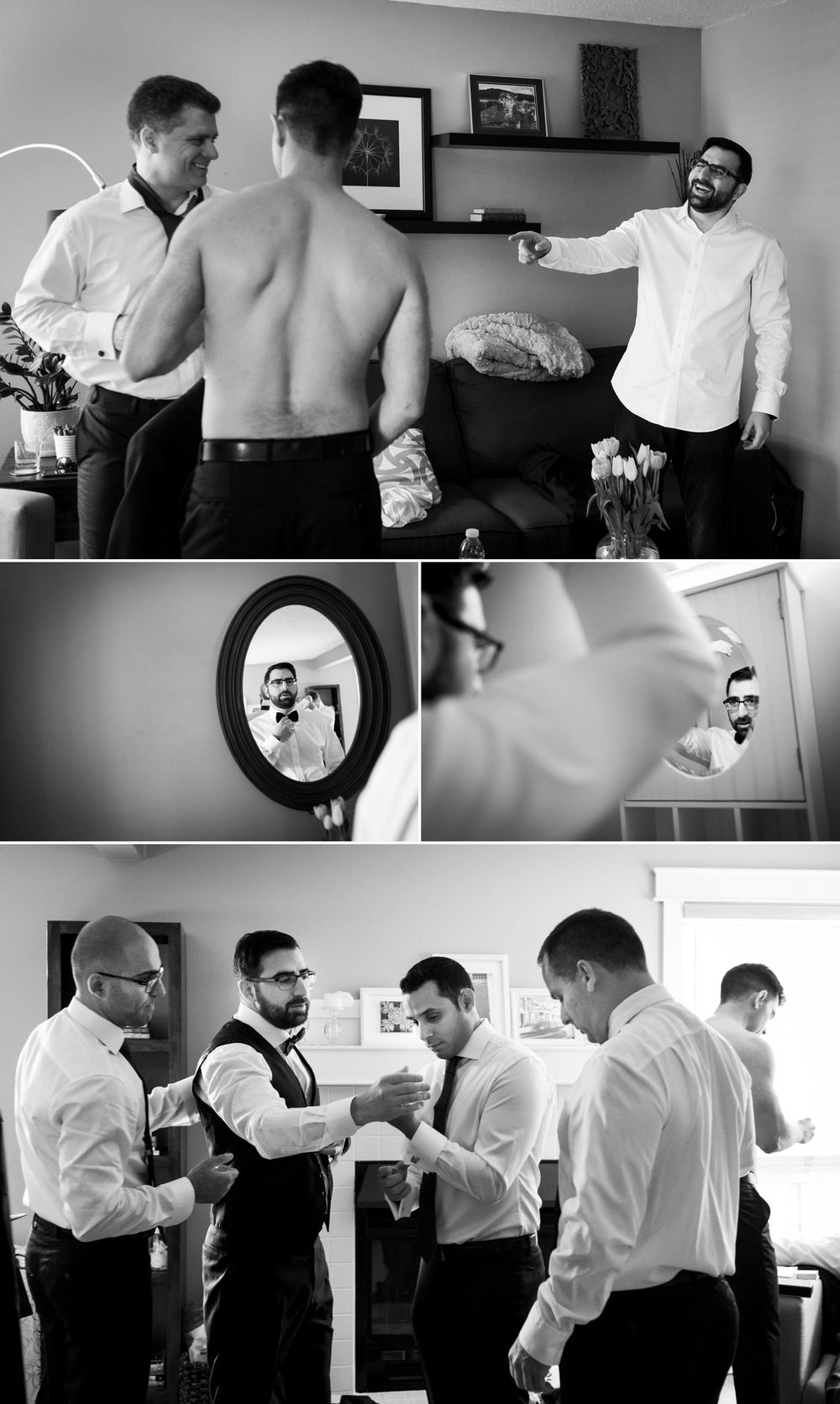 Groom and his Groomsmen getting ready