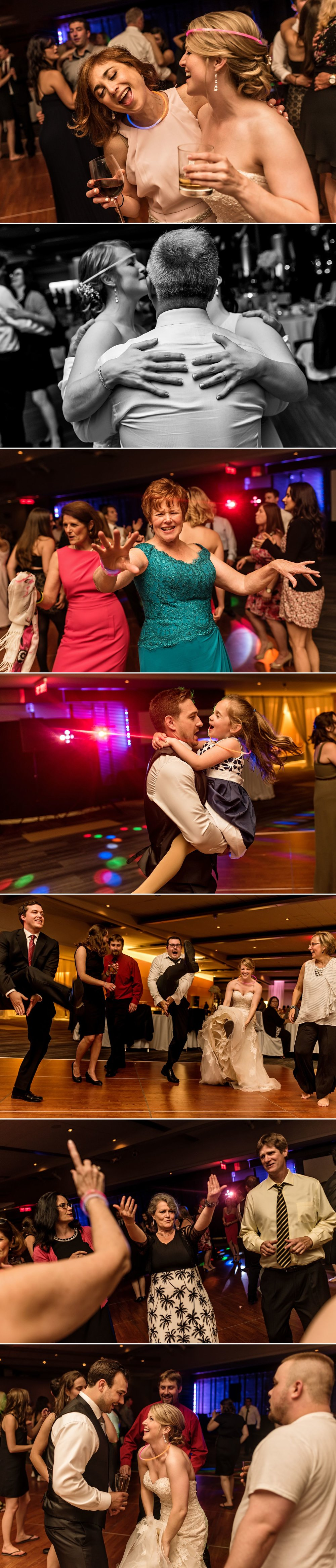 Guests enjoying themselves at the wedding reception at the Shaw Centre in downtown Ottawa