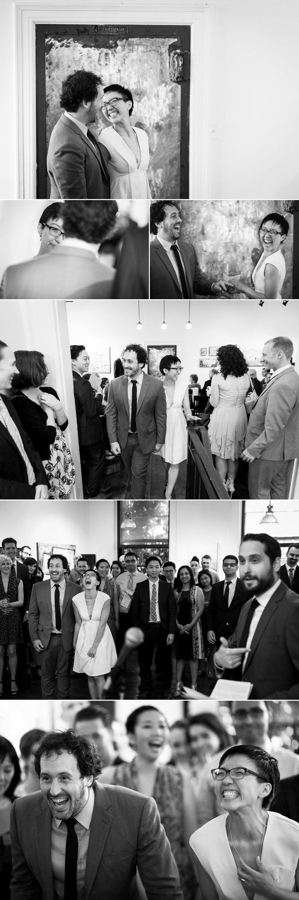 A wedding reception at the Orange Art Gallery in Ottawa