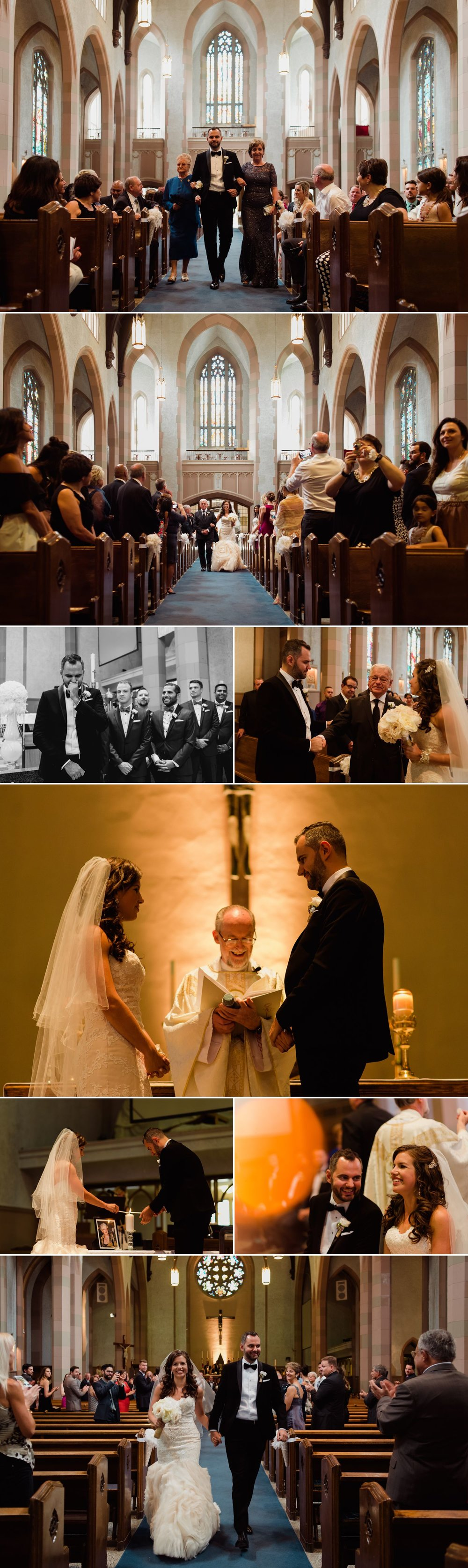 Wedding ceremony at the Blessed Sacrament church in Ottawa