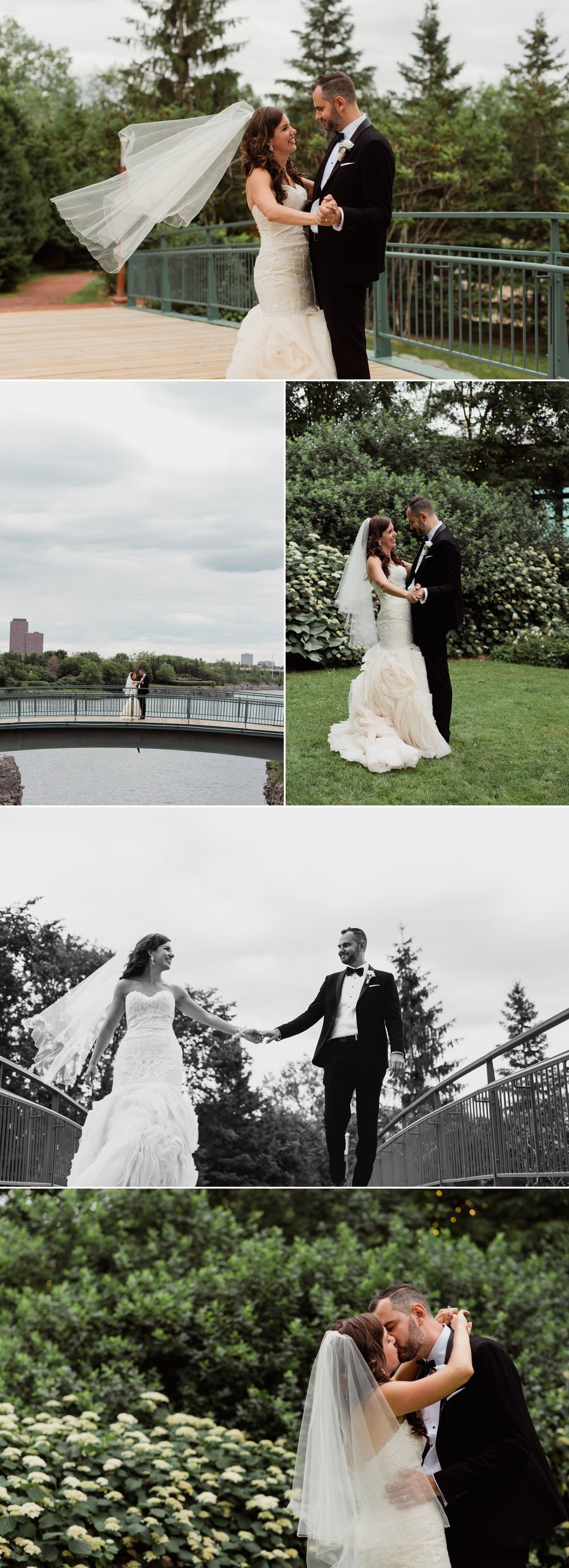 Couple portraits at the locks in downtown Ottawa