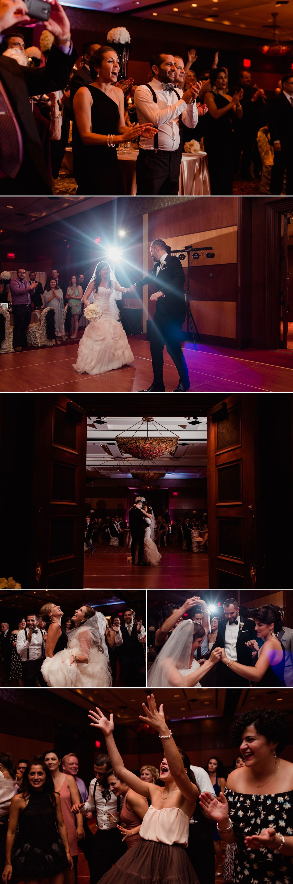 The couples entrance and first dance at their reception at the Hilton Lac-Leamy